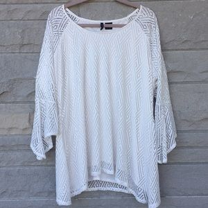 New Directions cream tunic Sz XL
